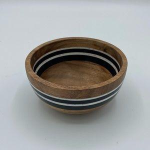 NEW Juliska Stonewood Stripe Small Wooden Bowl